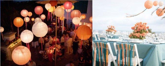Comment accrocher ses lanternes - MARIAGE ORIGINAL _ Va falloir un max de fil de pêche mes amis...!