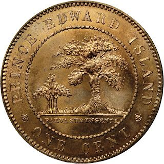 Canada Prince Edward Island Large Bronze One Cent Coin 1871