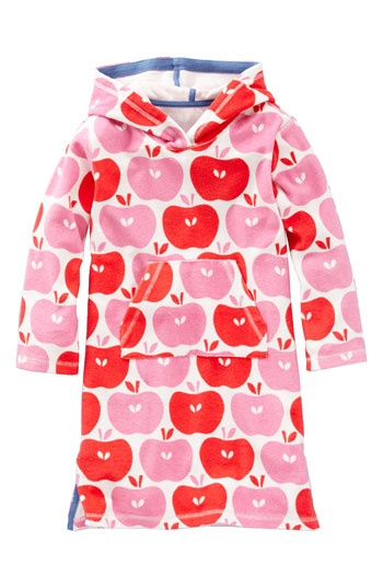 Mini Boden towelling dress.  What a great idea for babies & toddlers at the pool or beach because they can never keep traditional towels wrapped around themselves.