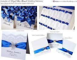 royal blue & silver wedding theme
