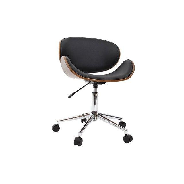 Chaise De Bureau Design Bois Walnut Miliboo La Redoute Mobile Fauteuil Bureau Design Chaise De Bureau Design Fauteuil Bureau