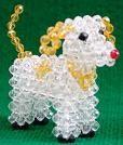 Beaded Dogs : Beaded Jewelry Pattern - 水晶手工串珠DIY可爱小狗的作法教程