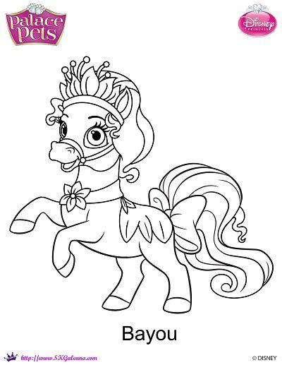 Free Princess Palace Pets Bayou Coloring Page