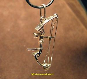 Archery Jewelry Compound Bow Small Pendant Silver Handmade   eBay....... cool!