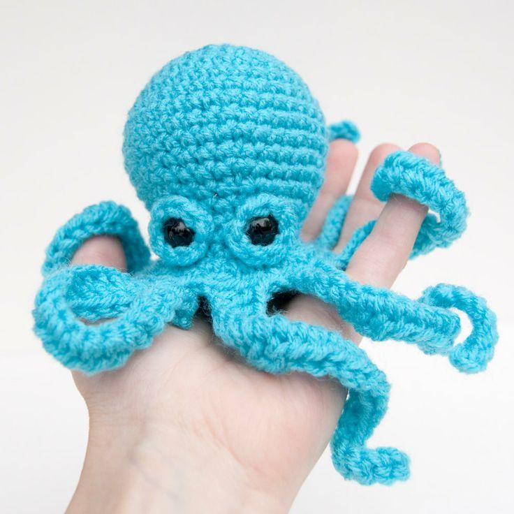 Stim toy? Amigurumi Baby Kraken Plush Octopus Blue by ...
