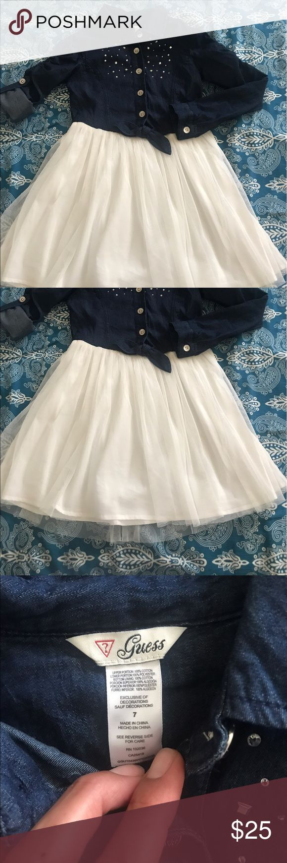 Guess Dress Guess Dress Jean upper, tutu-ish bottom, NWOT Size 7 Guess Dresses