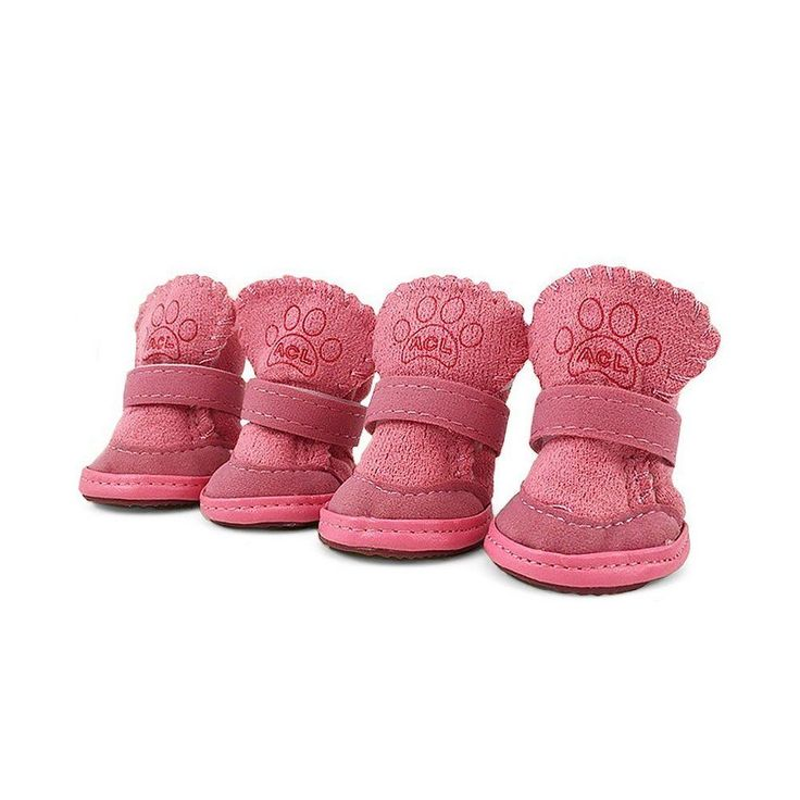 "Dog Boots Puppy Shoes Booties Paw Protector For S/M Dogs Anti Slip Pink 2""x1.6"" #Asobilor"