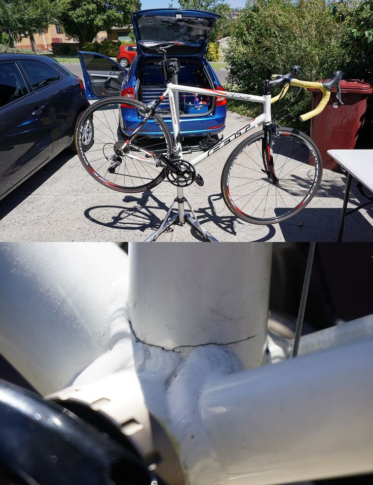 Well that's a shame. Customer got a great till on this road bike for $300, until I found a surprise modification. Make sure to give second hand bikes a good look-over when buying, preferably with a magnified glass if its a carbon frame.  For any bike frame repair I recommend www.gripsport.com.au. I've been using them for years!