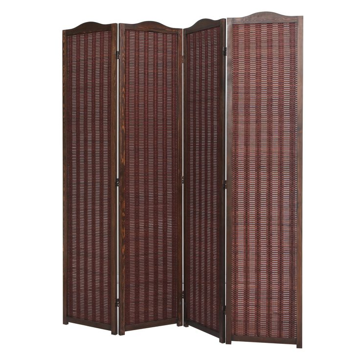 Deluxe Brown Natural Woven Design Bamboo 4 Panel Folding Room Divider /  Portable Privacy Screen - - Best 25+ Folding Room Dividers Ideas Only On Pinterest Room