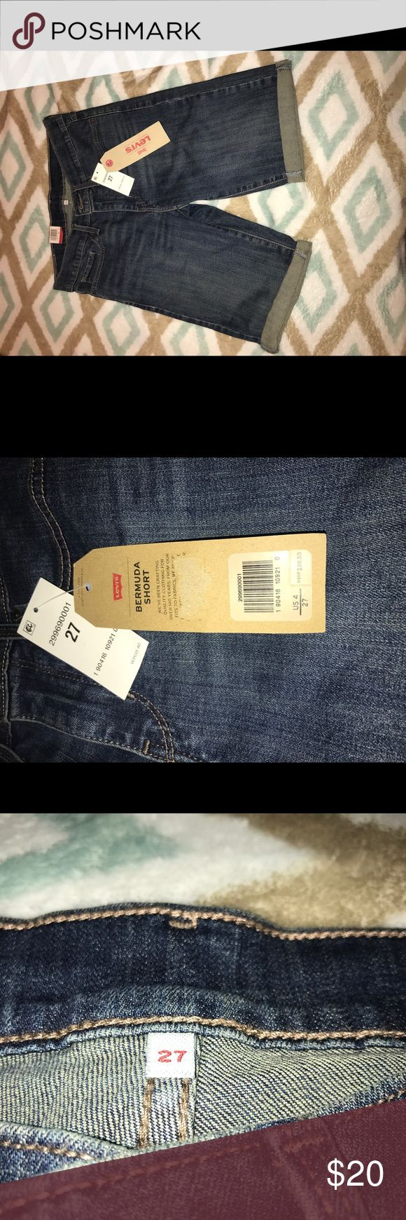 """Levi's Bermuda Shorts Levi's Bermuda Shorts. Waste27"""" (size 6). Brand new and never worn. Tags still on. Levi's Shorts Jean Shorts"""