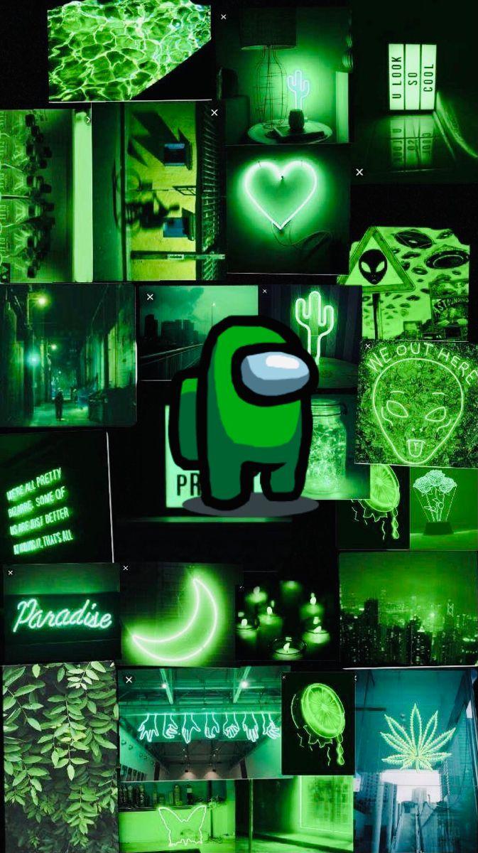 Among Us Dark Green Wallpaper Dark Green Wallpaper Green Wallpaper Cool Backgrounds Wallpapers
