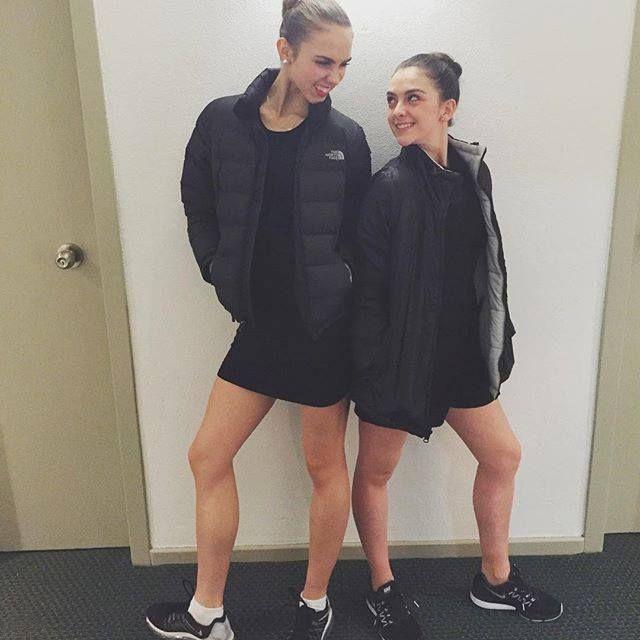 Elle Dashwood and Montana Rubin after a show. Photography Elle Dashwood