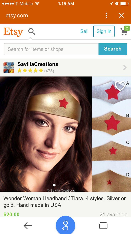 Wonder woman costume headband-8276