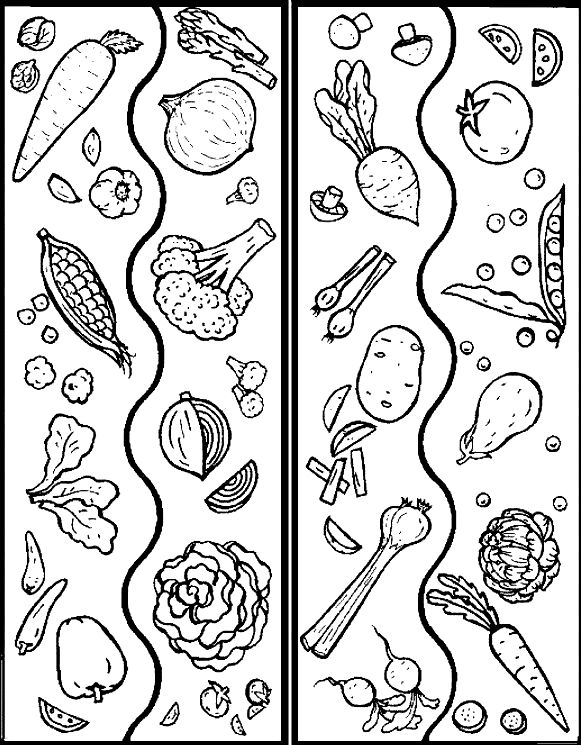 Vegetable color page, coloring pages, color plate, coloring sheet,printable coloring picture