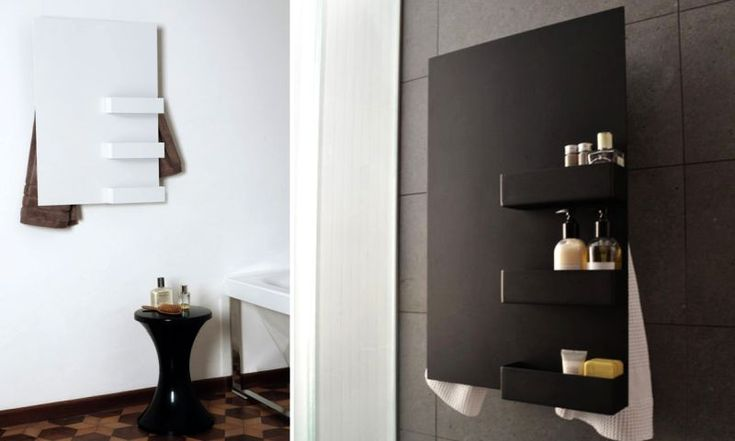 mg12 electric wall-mounted towel warmer comes with nifty shelves