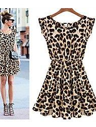 Women's Leopard Grain Collect Waist Sexy Dress XX... – USD $ 9.80
