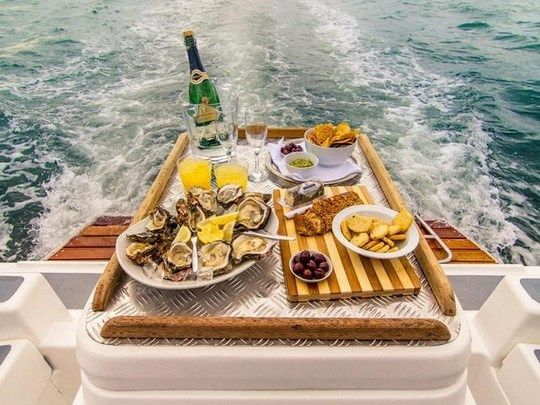 We're so big on hospitality that you can even order room service on a houseboat.  Knysna Houseboats