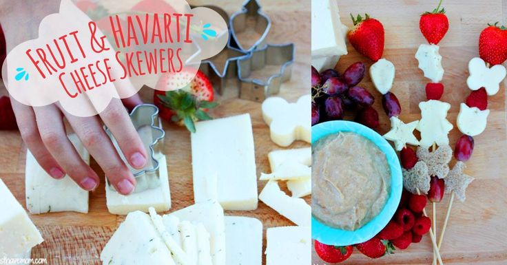 Snacks that are naturally delicious and cute-to-boot? Try @musthavemom's hands-on Havarti cheese skewers.