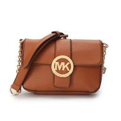 Michael Kors Fulton Messenger Small Brown Crossbody Bags Outlet