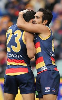 Charlie Cameron and Eddie Betts, two great Crows players.