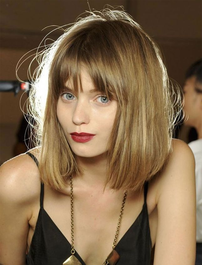 Ultra Basic Baby Bob: A little more blunt than Taylor Swift's hair, supermodel Abbey Lee Kershaw's version of the bob is slightly sleeker, with clean-cut, straight bangs. To keep this look from feeling a little too American Girl Doll-like, tousle it up a bit and secure with hair spray