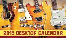 2015 Vintage Guitar Magazine Desktop Calendar #vintageguitars