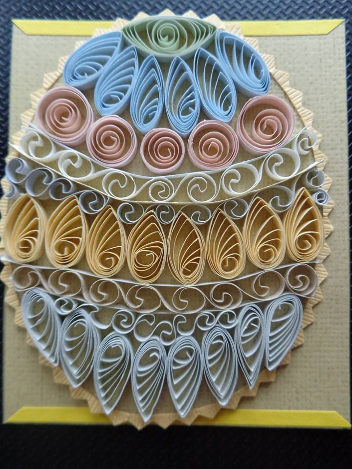 Quilled Easter Egg Card by Karen Miniaci. Quilling Supplies from 'Quilled Creations'