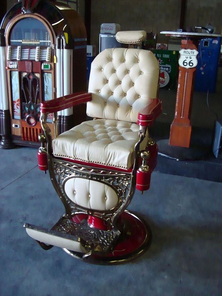 A vintage barber chair from the Drake Hotel in Chicago, where Al Capone got his hair cut, sold for $3,000 at auction in 2015.