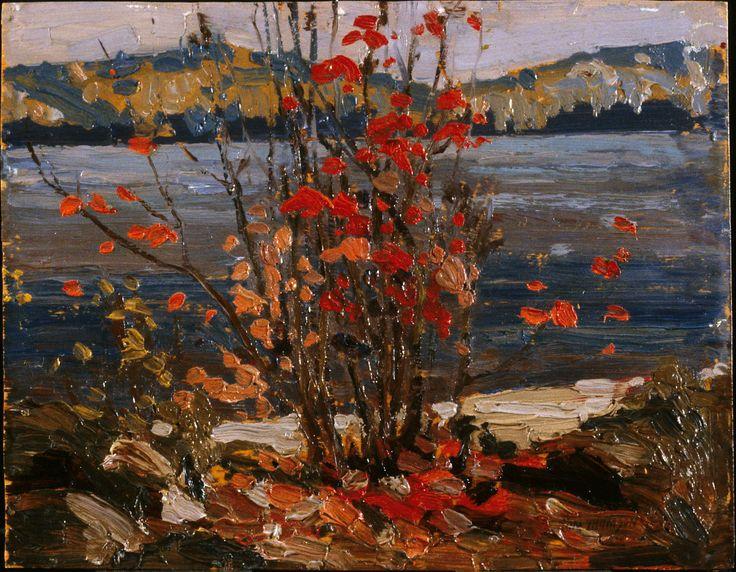 Tom Thomson Catalogue Raisonné   Lake and Red Tree, Fall 1916 (1916.149)   Catalogue entry