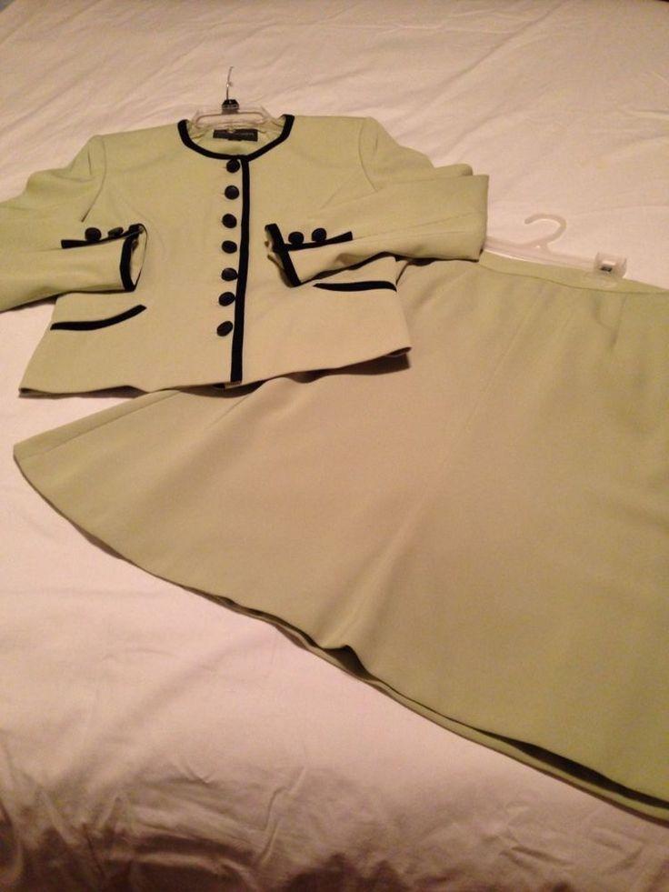 2 Piece Sag Harbor Skirt Suit NWOT  Sz 6P  | eBay
