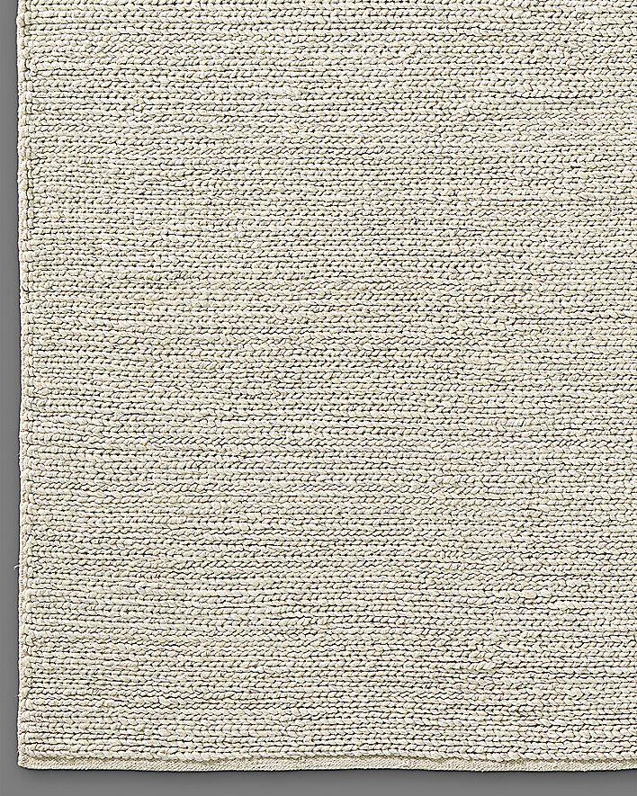 2245 9x12 Braided Wool Rug Cream