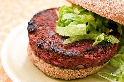 Quarter Pounder Beet Burger | Post Punk Kitchen | Vegan Baking & Vegan Cooking (rice, lentils)