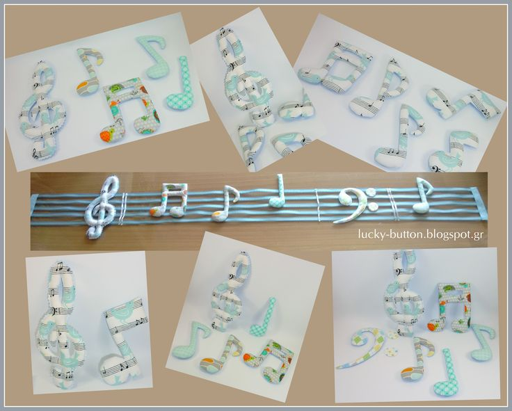 Υφασμάτινες νότες, Διακόσμηση παιδικού δωματίου fabric notes, Decorating children's rooms