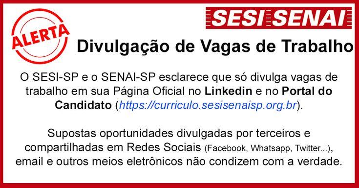 SESI/SENAI-SP - Portal do Candidato