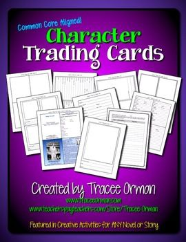 Character Trading Cards Common Core Activity Fun activity that is aligned to the Common Core $  - Must share with third grade!