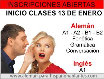 Clases de alemán e inglés para hispanohablantes  Clases en la semana y los sábados a un espectacular precio. Clases online en vivo y presenciales en Barranquilla, Colombia AQUÍ: http://www.aleman-para-hispanohablantes.com/ www.xplicame.com xplicame@hotmail.com