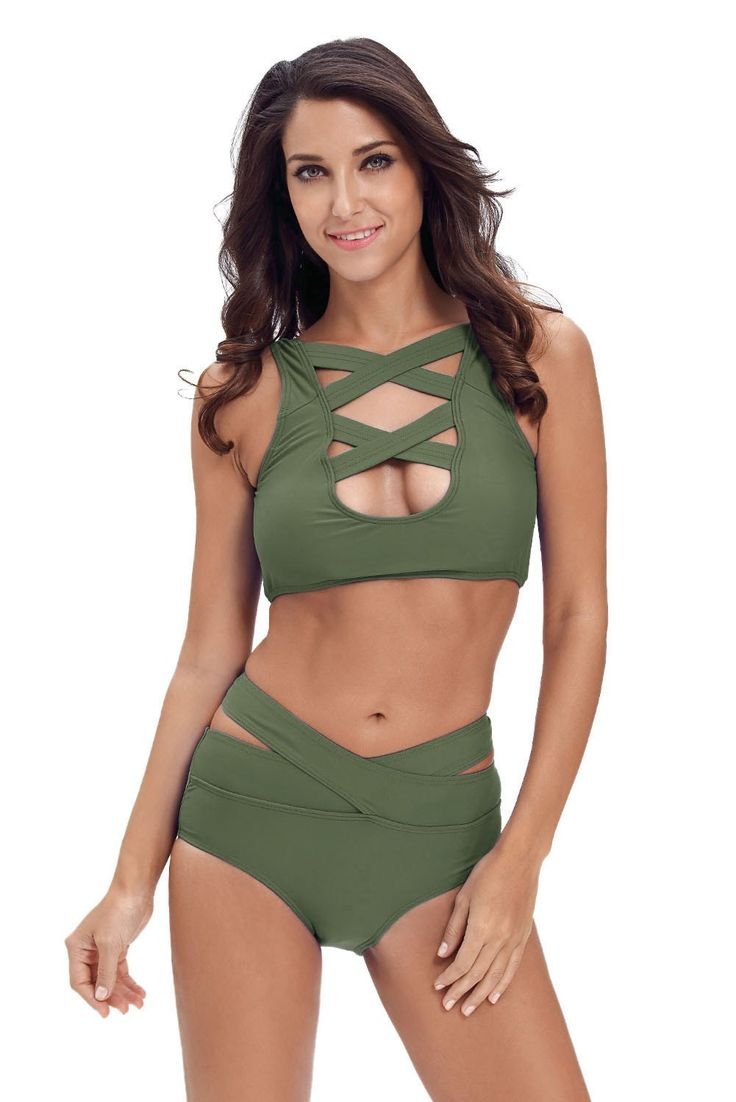We think this is going to be a hit! New to our store, theHer Fashion Beach...  http://HisandHerFashion.com/products/her-fashion-beach-style-green-multiway-strap-high-waist-bikini?utm_campaign=social_autopilot&utm_source=pin&utm_medium=pin   @outfits #dresses