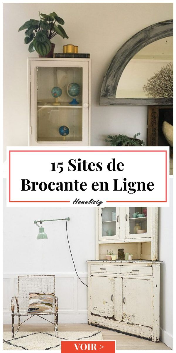 Brocante En Ligne 15 Sites Ou Chiner Meubles Deco En 2020 Meuble Deco Deco Salon Recup Decoration Interieure Rustique