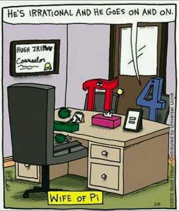 Mathematics jokes. It's hip to square.