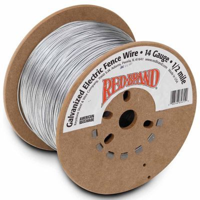 Red Brand Galvanized Electric Fence Wire 14 Gauge - 2640-ft.