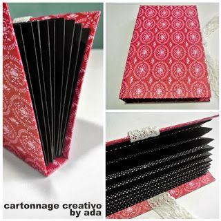 Tutorial de cartonaje: paso a paso muy sencillo para hacer una carpeta de fuelle - Enmarcación y Cartonnage Creativo. Diseño con cartón, papel y telas.