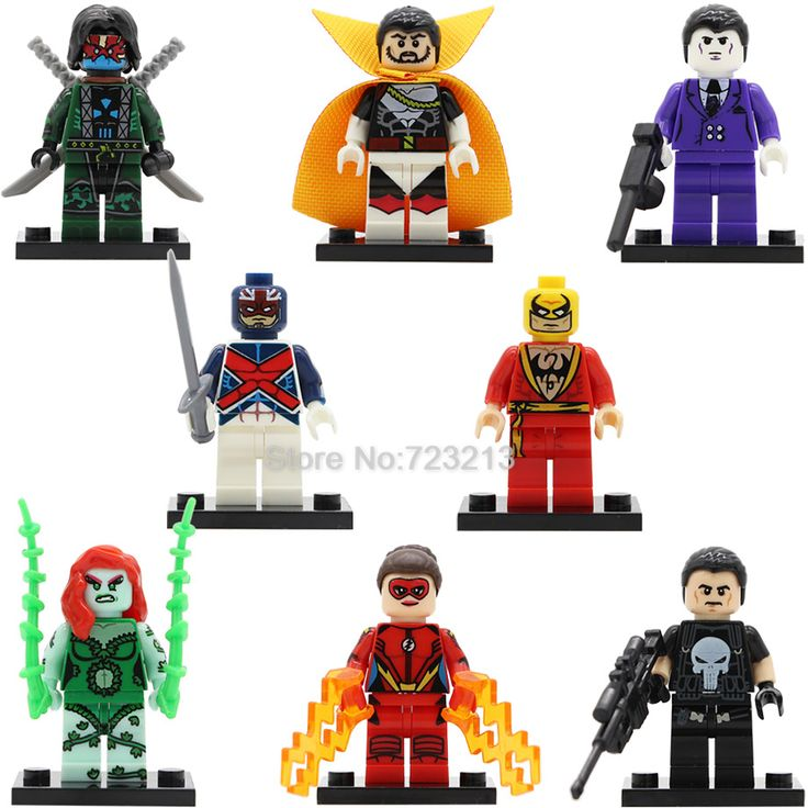 Super Hero Jesse Chambers Figure Count Nefari Ghost Maker The Punisher Iron Fist Captain Britain Purple Man Building Blocks Toys #Affiliate