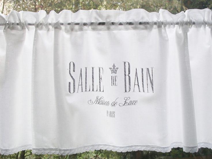 Gardine SHABBY Chic *SALLE DE BAIN Luxe PARIS* Von The White Suite Auf  DaWanda
