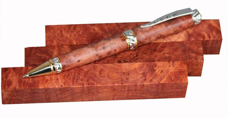 "Redwood Pen Blank, Lace Burl - 5/8"""