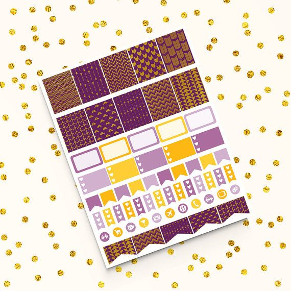 Plum Stickers -  http://etsy.me/2cwe92R Perfect for create handmade planners, stationery, greeting cards, craft items and much more.