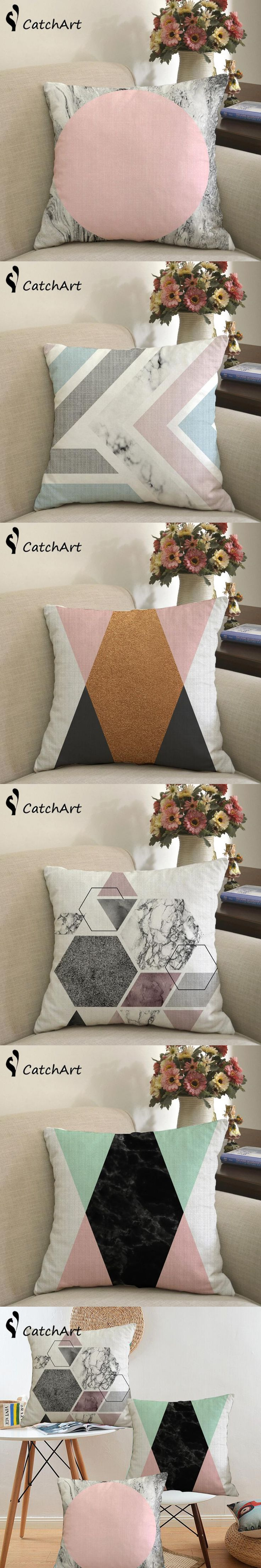Nordic Retro Classical Geometry Art Cushion cover Abstract Plaid Lattice Pillows Linen Cotton Throw Pillow cover Custom Cushion