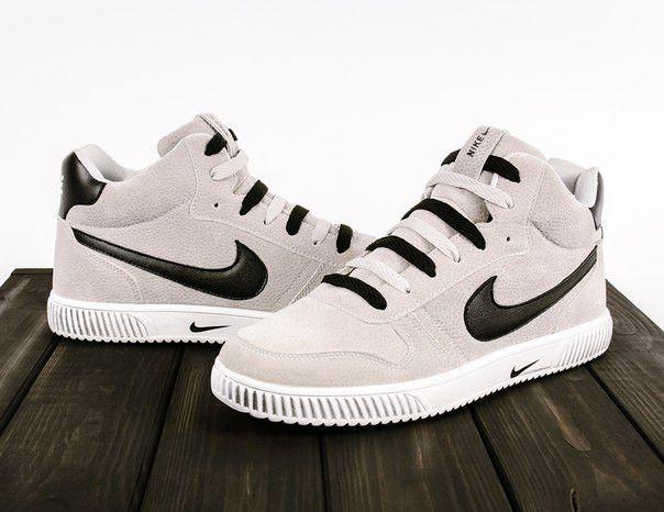 Мужские кроссовки|блейзеры Nike blazer серые замша - nikestep.com.ua в Киеве