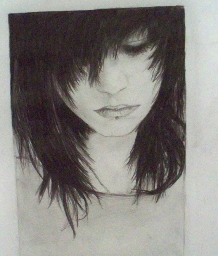 Sad emo drawings emo girl drawing by midestini traditional art drawings people