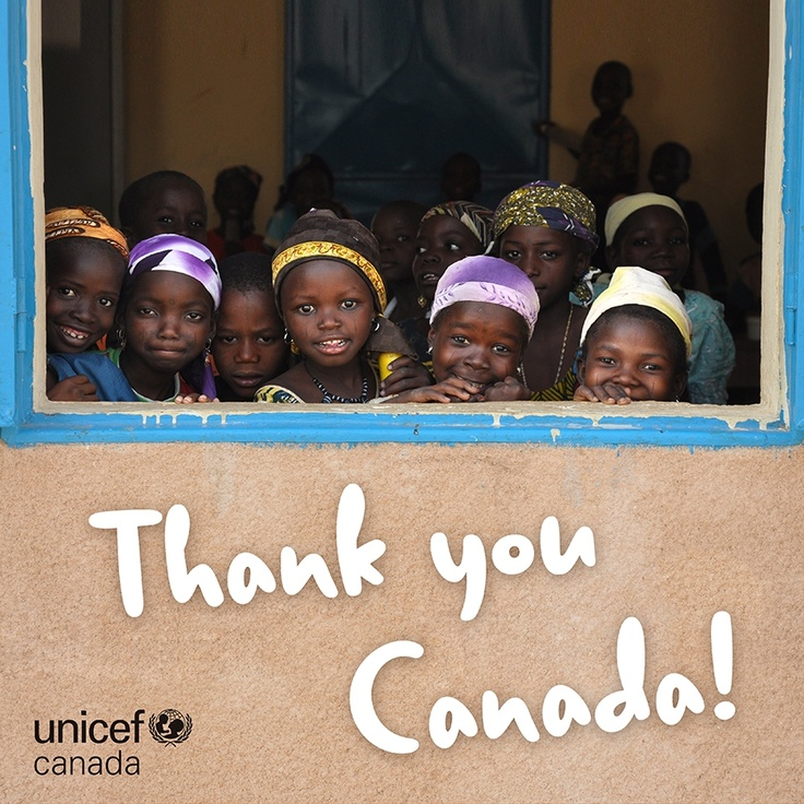 Did you know that Canada was the 5th largest donor to UNICEF's emergency programs last year? Many thanks to the Canadian International Development!  If you remember, the government matched donations for the nutrition crisis in the Sahel, so many thanks to you, too! If you want see who the other top donors were, check out our new Humanitarian Action for Children report: http://buzz.mw/-jKr_Z :)
