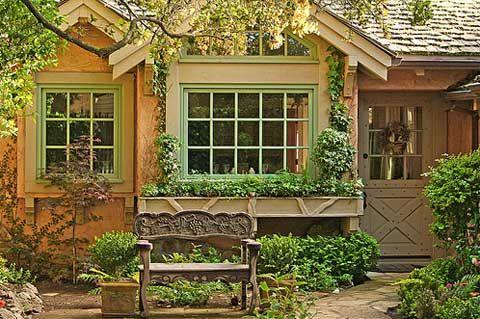 CottageStorybook Cottages, Carmel Cottages, Dreams Home, Carmel California, Windows Boxes, Cottages House, Flower Boxes, Little Cottages, Small Cottages